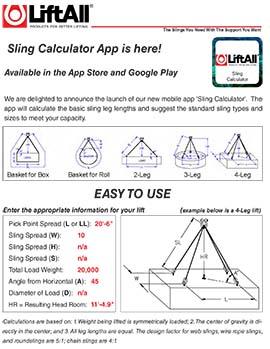 LiftALL Sling Calculator App